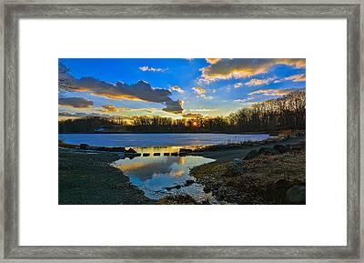 Swan Lake Sunset Framed Print by Jeffrey Friedkin
