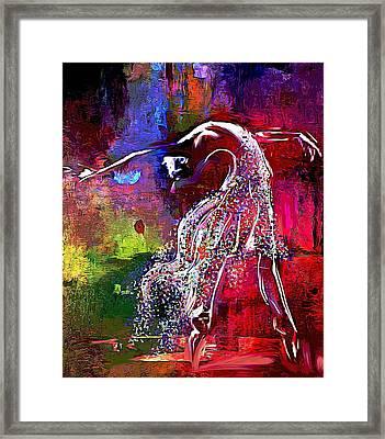 Swan Framed Print by Lynda Payton