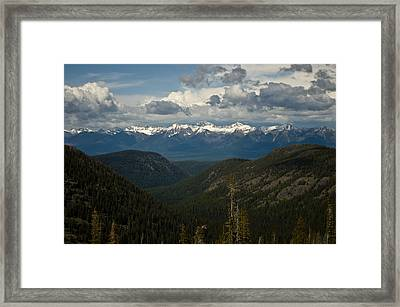 Swan Mountain Range Framed Print
