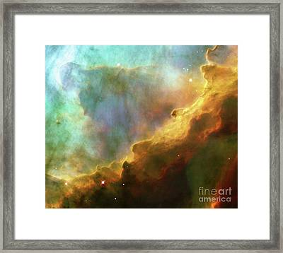 Swan Nebula, M17, Birthplace Of Stars, Space, Astronomy, Science Framed Print