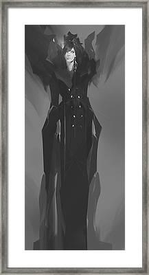 Swan Queen Framed Print by Peter La