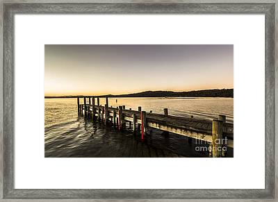 Swan River Jetty Framed Print by Jorgo Photography - Wall Art Gallery