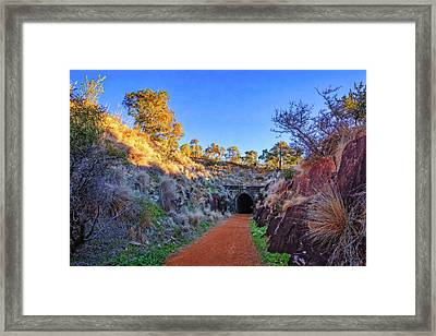 Framed Print featuring the photograph Swan View Railway Tunnel by Dave Catley