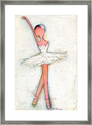Swan White Framed Print by Ricky Sencion