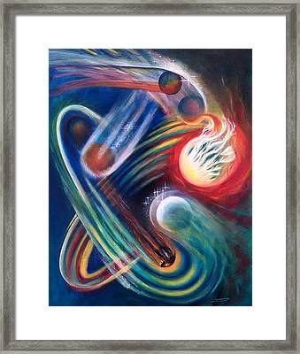 Framed Print featuring the painting Swandance by Thomas Lupari
