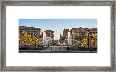 Swann Fountain In The Springtime Framed Print