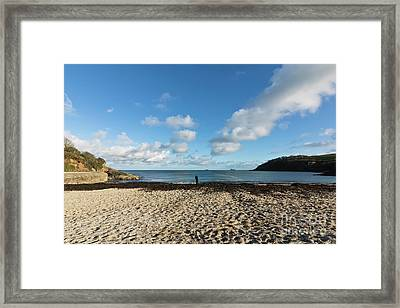 Swanpool Beach Cornwall Framed Print