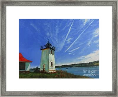 Swans Island Lighthouse Framed Print