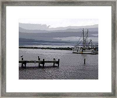 Framed Print featuring the photograph Swansboro Harbor by Skyler Tipton