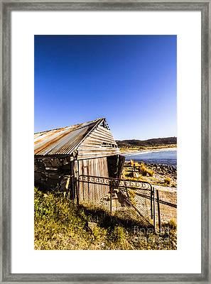 Swansea Boat Shack Framed Print by Jorgo Photography - Wall Art Gallery
