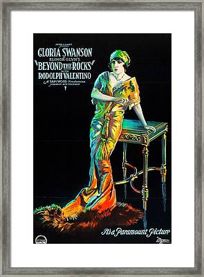Swanson And Valentino In Beyond The Rocks 1922 Framed Print by Mountain Dreams