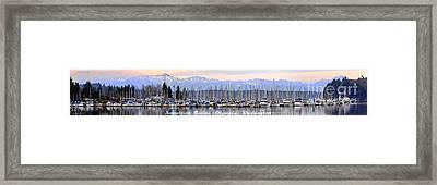 Swantown Marina Olympia Wa Framed Print by Larry Keahey