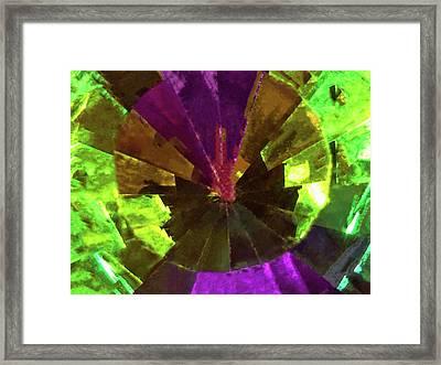 Swarovski Vitrail Medium Crystal - The Art Glass Project Framed Print by Susan Maxwell Schmidt