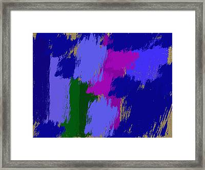 Swatches Of Colors Framed Print by Tina M Wenger