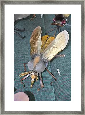Swatter Bee Framed Print by Michael Jude Russo