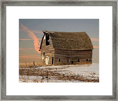 Swayback Barn Framed Print by Kathy M Krause