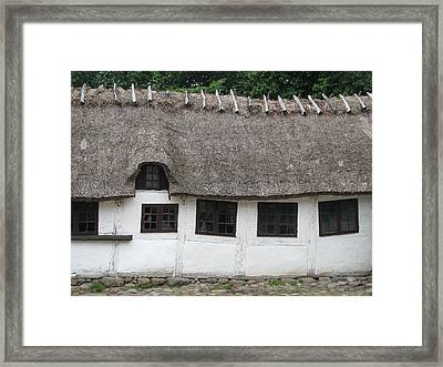 Framed Print featuring the photograph Swayback Farmhouse by Erik Falkensteen