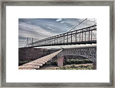 Swayback Suspension Bridge Framed Print by Farol Tomson