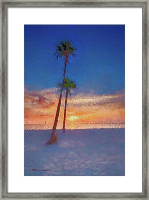 Framed Print featuring the photograph Swaying Palms by Marvin Spates