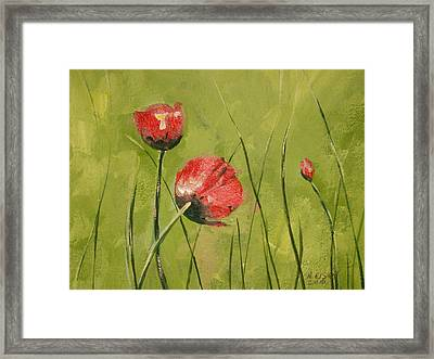 Swaying Poppies Framed Print