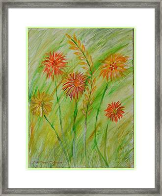 Swaying With Breeze Framed Print by Sonali Gangane