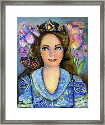 Sweater Giirl Framed Print