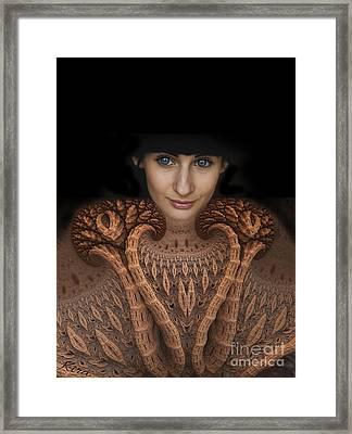 Sweater Girl Framed Print