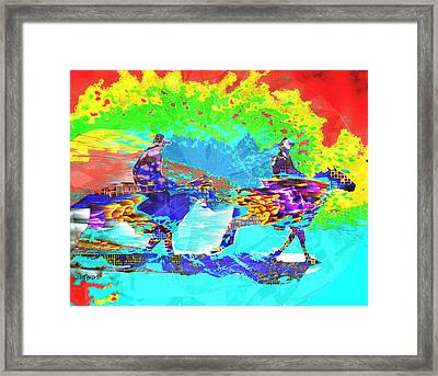 Sweating Fire Framed Print by Seth Weaver