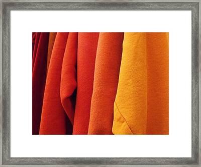 Sweatshirts Framed Print by Anna Villarreal Garbis