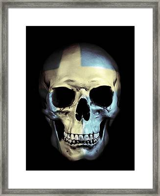 Swedish Skull Framed Print by Nicklas Gustafsson