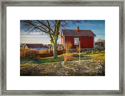 Swedish Sundial Framed Print