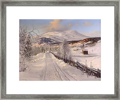 Swedish Winter Landscape Framed Print