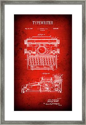 Sweeney Typewriter Patent  1941 Framed Print