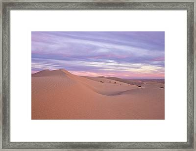Framed Print featuring the photograph Sweeping Dunes At Sunset by Patricia Davidson