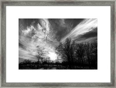 Sweeping Sky Framed Print