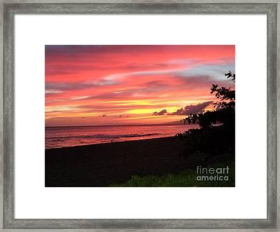Sweeping Sunset Ko'olina Ohahu Hawaii Framed Print