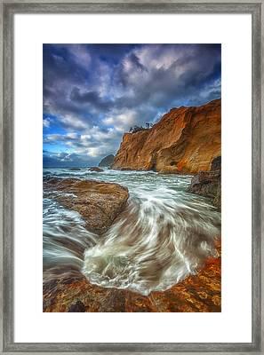 Sweeping Tides Framed Print by Darren  White