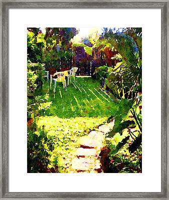Framed Print featuring the painting Sweet Afternoon by Angela Treat Lyon