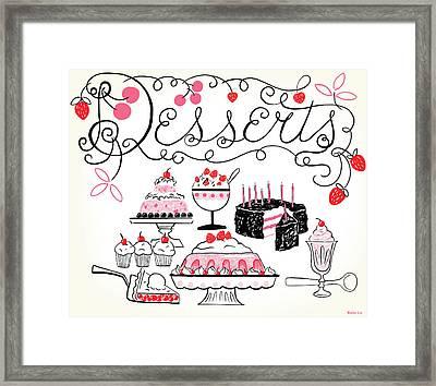 Sweet And Lovely Desserts Framed Print