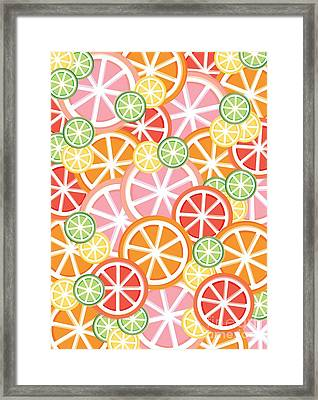 Sweet And Sour Citrus Print Framed Print by Lauren Amelia Hughes
