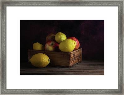 Sweet And Sour Fruits Still Life Framed Print