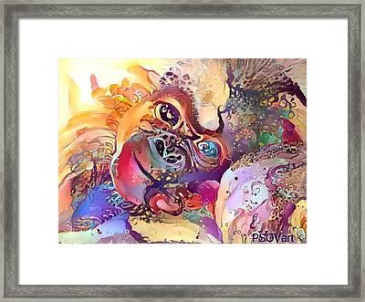 Sweet Baby Monkey 1 Framed Print