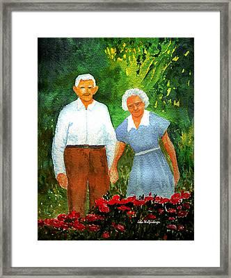 Sweet Bed Of Roses Framed Print by John Wolfersberger