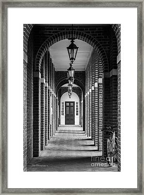 Sweet Briar College Benedict Hall Walkway Framed Print by University Icons