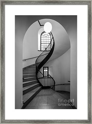 Sweet Briar College Cochran Library Stairwell Framed Print by University Icons