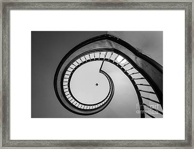 Sweet Briar College Library Stairway Framed Print by University Icons