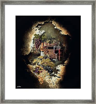 Sweet Cabernet 004 Framed Print by G Berry