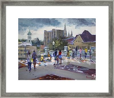 Sweet Chalk Festival In Lockport Framed Print