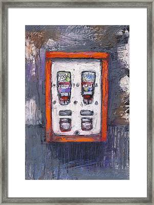 Sweet Childhood Memories,bubblegum Machine Framed Print