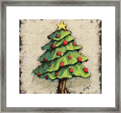 Sweet Christmas Tree Framed Print